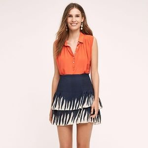 NWOT O Pepin Anthropologie Smocked mini skirt.